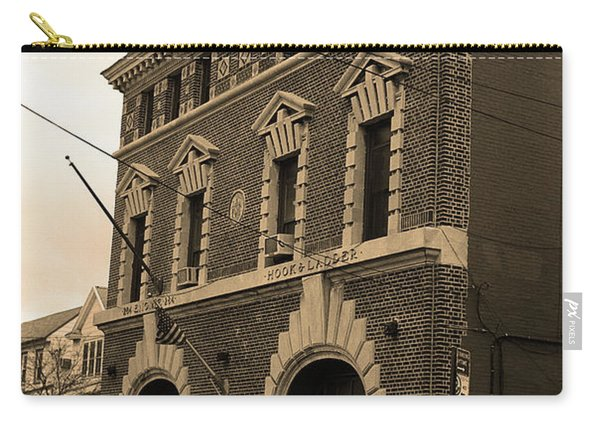 Brooklyn Firehouse Building 2001 Sepia Carry-all Pouch