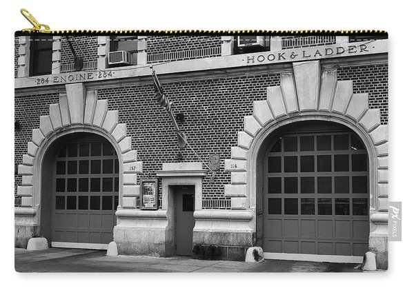 Brooklyn Firehouse Double Doors 2001 Bw Carry-all Pouch