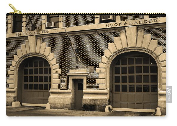 Brooklyn Firehouse Double Doors 2001 Sepia Carry-all Pouch