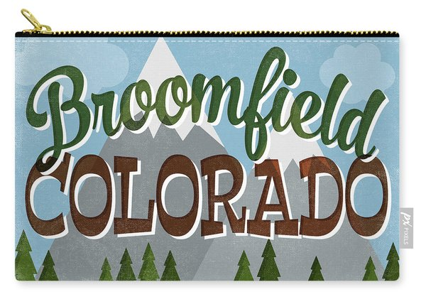 Broomfield Colorado Snowy Mountains Carry-all Pouch