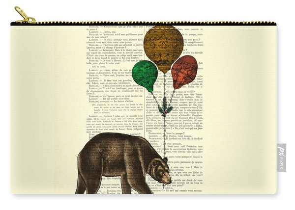 Brown Bear With Balloons Carry-all Pouch