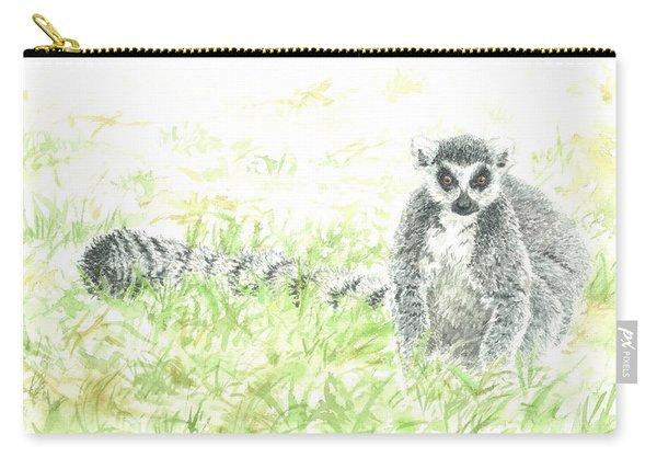 Brown Eyes - Lemur Catta Carry-all Pouch