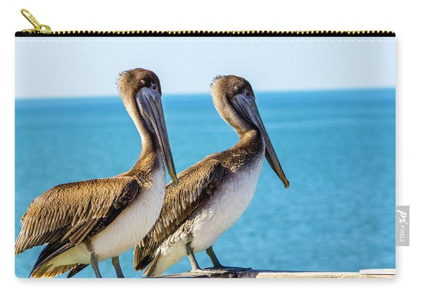 Brown Pelican Pair Carry-all Pouch