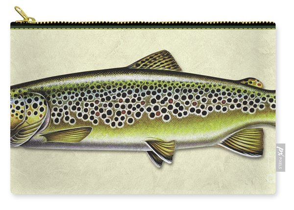 Brown Trout Id Carry-all Pouch