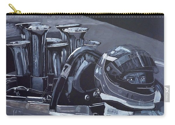Carry-all Pouch featuring the painting Bruce Mclaren Canam by Richard Le Page