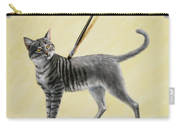Brushing The Cat - No. 2 Carry-all Pouch