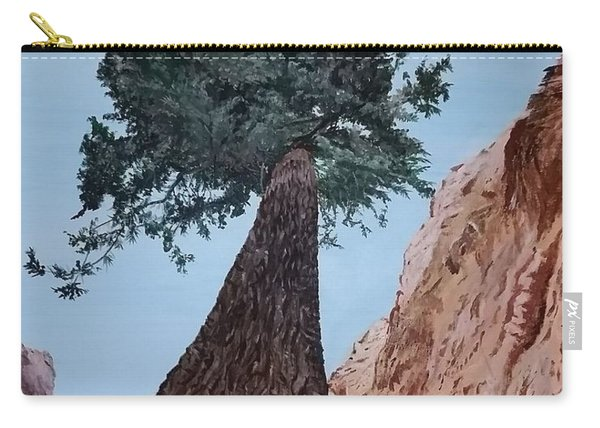 Carry-all Pouch featuring the painting Bryce Pine by Kevin Daly