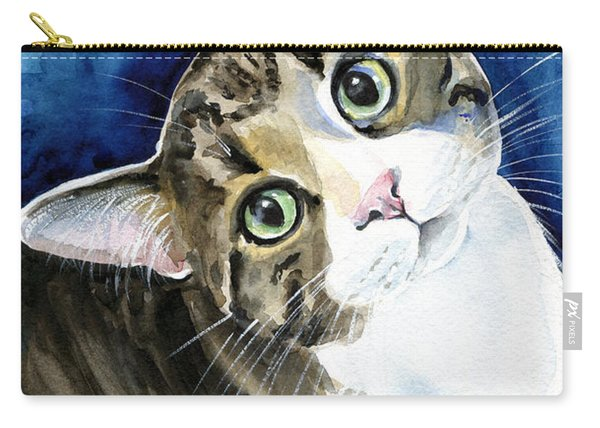 Bubbles - Tabby Cat Painting Carry-all Pouch