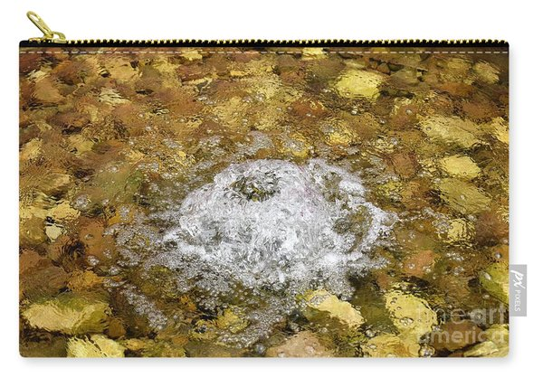 Bubbling Water In Rock Fountain Carry-all Pouch