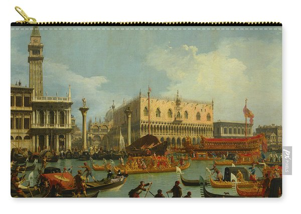 Bucentaur's Return To The Pier By The Palazzo Ducale Carry-all Pouch