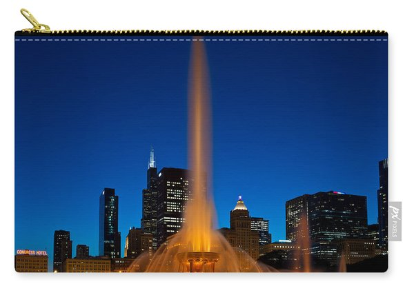 Buckingham Fountain Nightlight Chicago Carry-all Pouch
