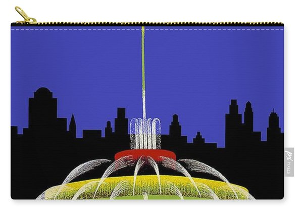 Buckingham Fountain Vintage Travel Poster Carry-all Pouch