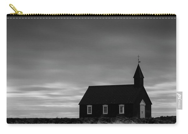 Budakirkja, The Black Church In Iceland Carry-all Pouch