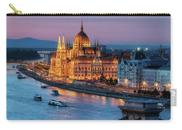 Budapest City At Dusk Carry-all Pouch