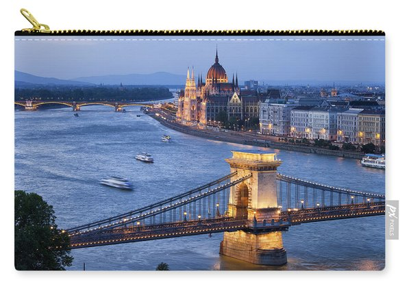 Budapest Cityscape At Dusk Carry-all Pouch