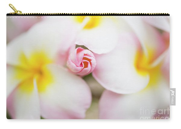 Budding Plumeria Cluster Carry-all Pouch