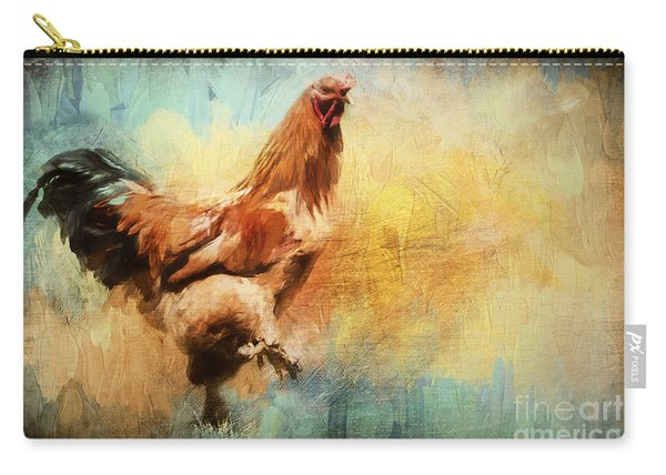 Buff Brahma Mrs. Darwin's Rooster  Carry-all Pouch