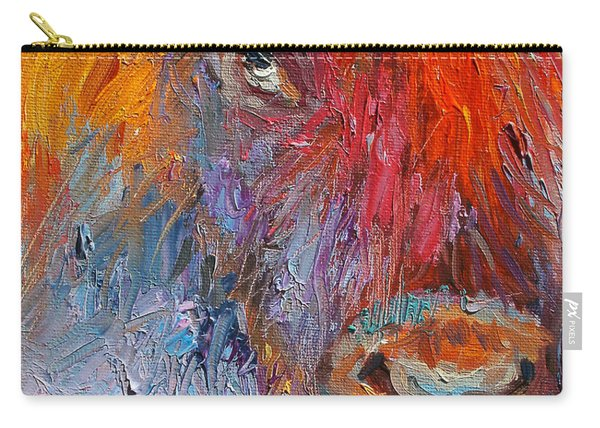 Buffalo Bison Wild Life Oil Painting Print Carry-all Pouch