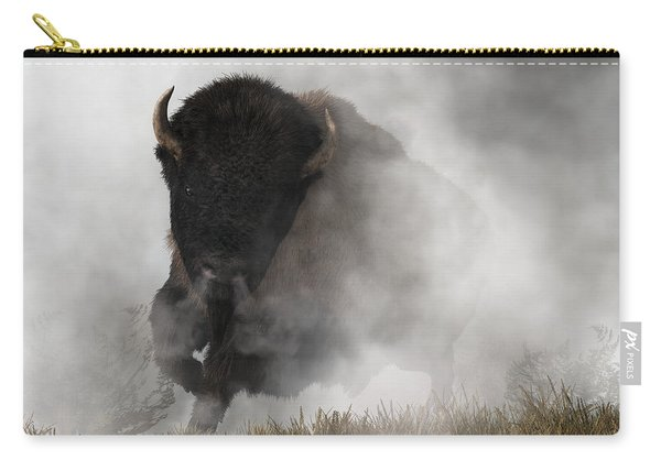 Buffalo Emerging From The Fog Carry-all Pouch