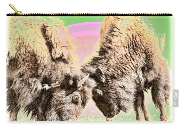 Buffalo Fight Carry-all Pouch