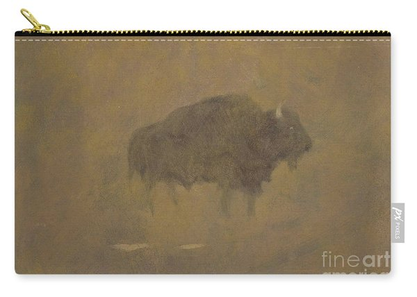 Buffalo In A Sandstorm Carry-all Pouch