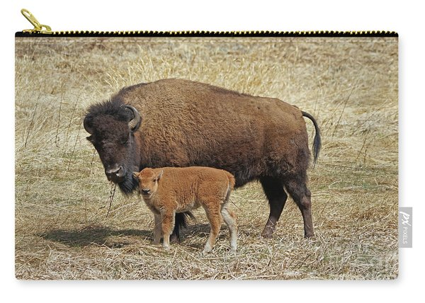 Buffalo With Newborn Calf Carry-all Pouch