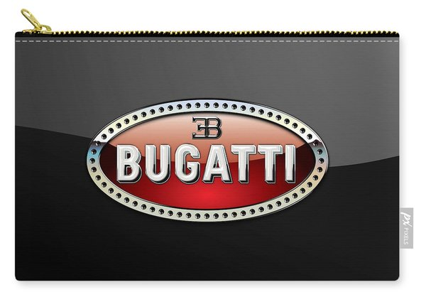 Bugatti - 3 D Badge On Black Carry-all Pouch