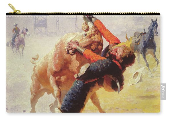 Bull Dodging Carry-all Pouch