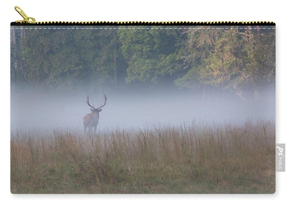 Bull Elk Disappearing In Fog - September 30 2016 Carry-all Pouch