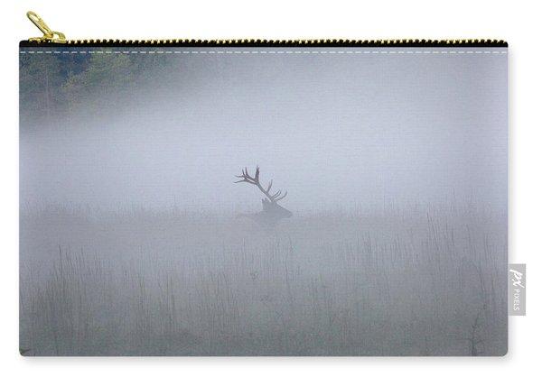 Bull Elk In Fog - September 30, 2016 Carry-all Pouch
