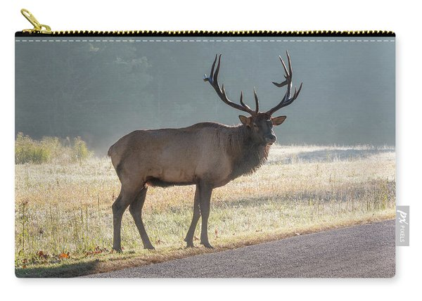 Bull Elk Watching Carry-all Pouch
