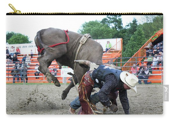 Bull Riding Action Carry-all Pouch