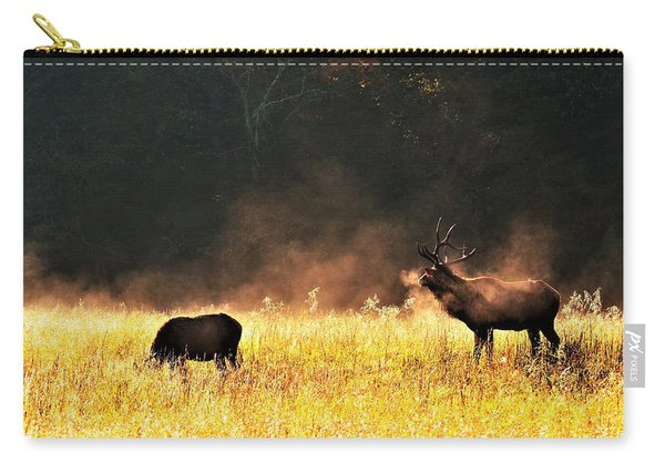 Bull With His Girl Carry-all Pouch