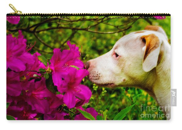 Bulldog Flowers Carry-all Pouch