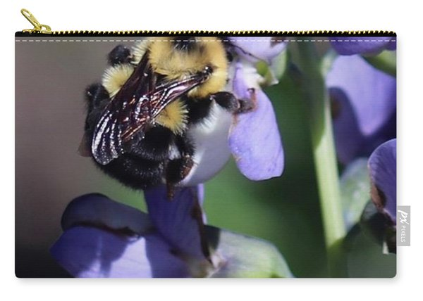 Bumble Bee, Blue Indigo Carry-all Pouch