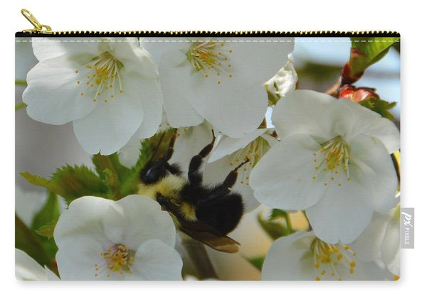 Bumble Bee In Hiding Carry-all Pouch