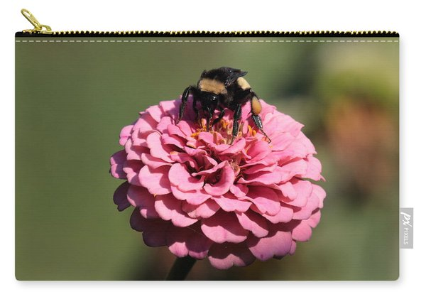 Bumble Bee On Zinnia 2649 Carry-all Pouch