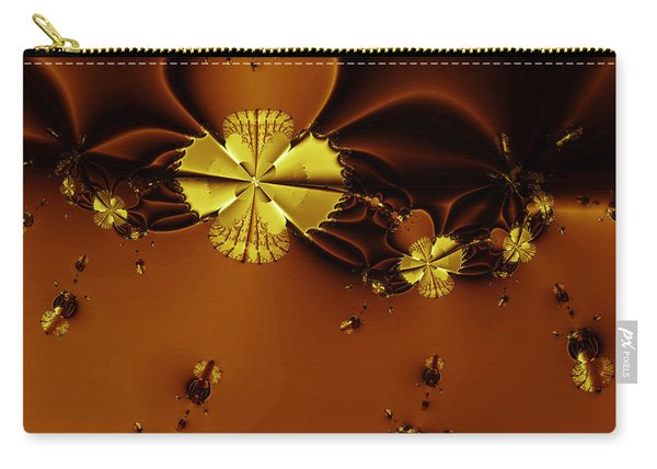 Bumble Beez Over Chocolate Lake . Square . S19 Carry-all Pouch