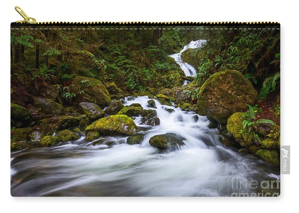Bunch Creek Falls In The Olympic National Park Of Wash Carry-all Pouch