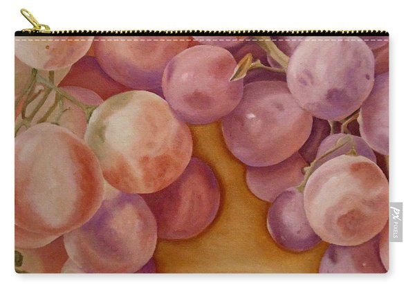 Carry-all Pouch featuring the painting Bunch Of Grapes by Angeles M Pomata