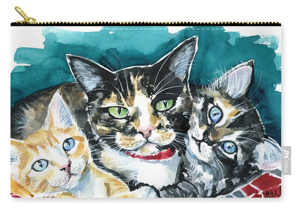 Bunch Of Love - Cat Painting Carry-all Pouch