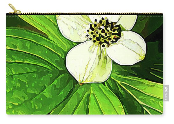 Bunchberry Blossom Carry-all Pouch