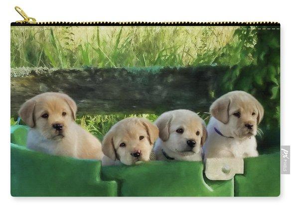Bundles Of Joy - Labrador Art Carry-all Pouch