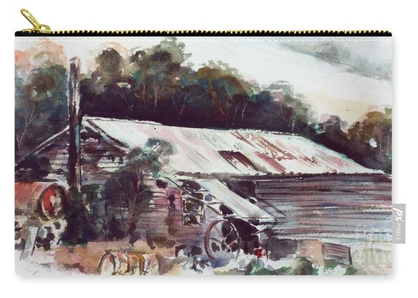 Carry-all Pouch featuring the painting Buninyong Dairy by Ryn Shell