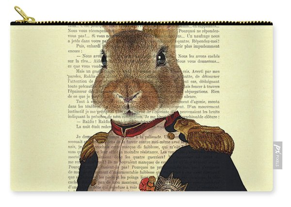 Bunny Portrait Illustration Carry-all Pouch