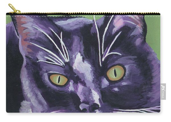 Tuxedo Black And White Cat Carry-all Pouch