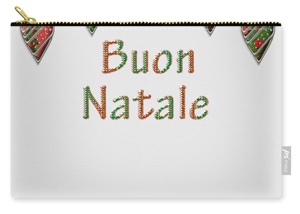 Buon Natale Italian Merry Christmas Carry-all Pouch