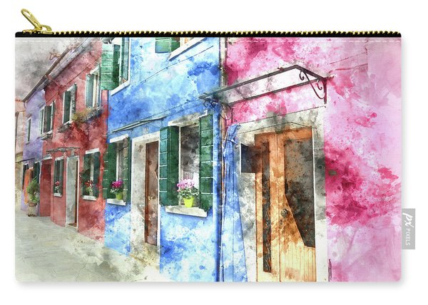 Burano Italy Buildings Carry-all Pouch