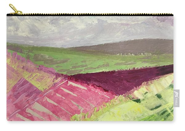 Burgundy Fields Carry-all Pouch