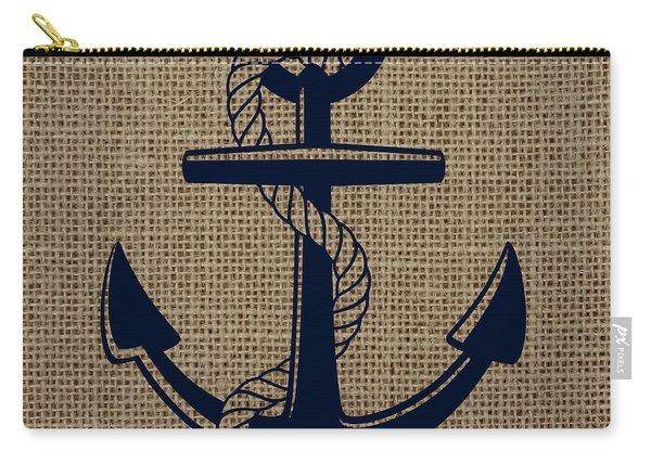 Burlap Anchor Carry-all Pouch